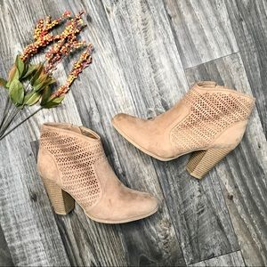 Me Too Laser Cut Ankle Boots -11M